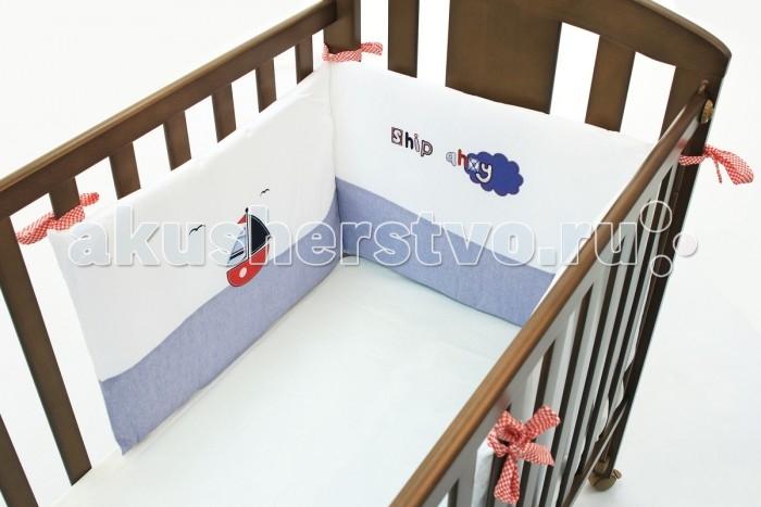 Бампер для кроватки Funnababy Marine короткий для кровати 120x60 см