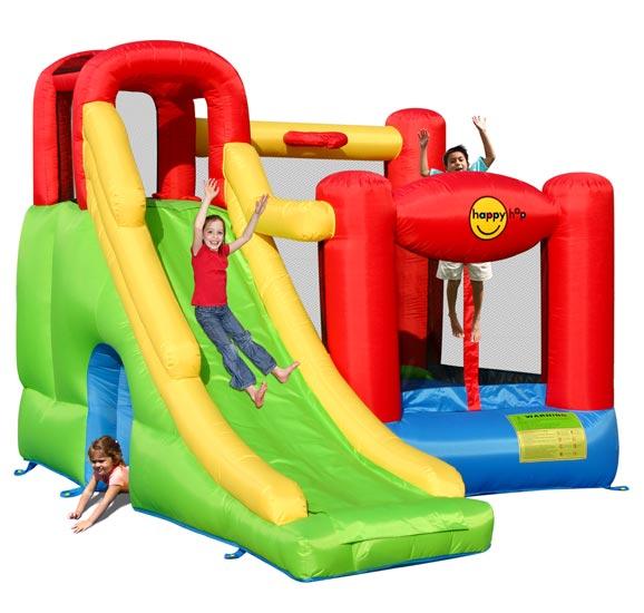 Надувные батуты Happy Hop Надувной батут с горкой Игровой центр 6 в 1 9060