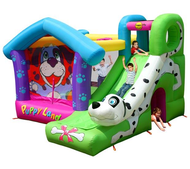 Надувные батуты Happy Hop Надувной батут с горкой Далматинец 9109