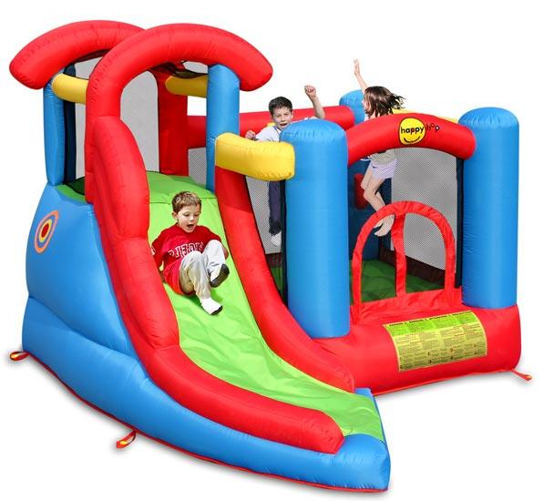 Надувные батуты Happy Hop Надувной батут с горкой Веселый малыш 6 в 1 9371