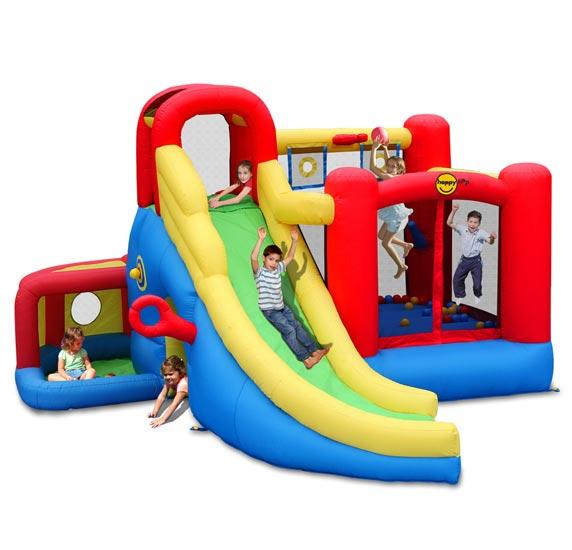 Надувные батуты Happy Hop Надувной батут с горкой Игровой центр 11 в 1 9406