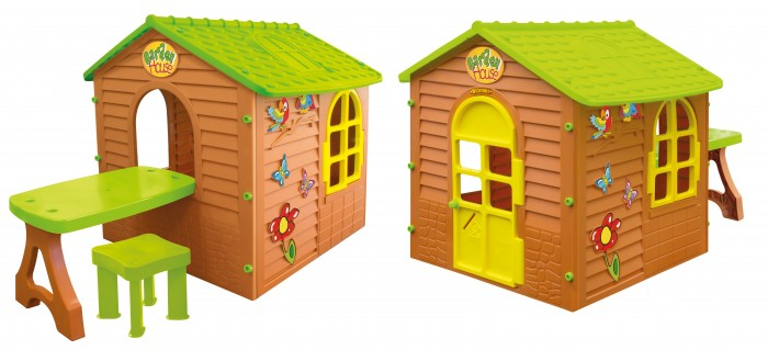 Игровой домик Mochtoys со столомсо столомMochtoys Домик со столом  полностью безопасен так как выполнен по всем Европейским стандартам, подходит для использования на даче или частной территории или во дворе, а также в домашних условиях. В домике есть окна и двери, окрашенные в яркие цвета, стены дома покрашены в цвет дерева. В нём достаточно места, для игры более одного ребенка одновременно. Дизайн без острых краев, поэтому он абсолютно безопасен для детей. Его легко собирать и разбирать.  Особенности и преимущества домика:  большой домик и столик в задней части дома открываются двери и окна Размеры домика:  ширина: 122 см длина: 180 см высота: 120 см<br>