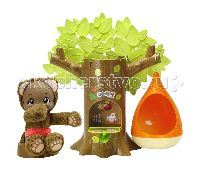 Zoopy Игровой набор Дерево с гнездом и мишкой (свет, звук)