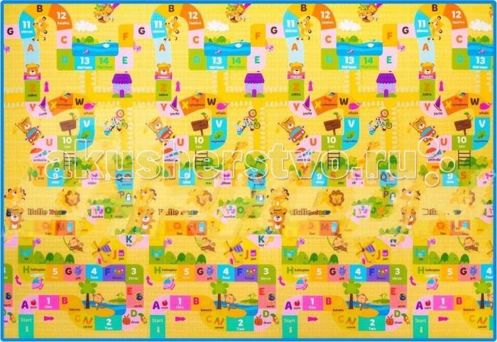 Игровой коврик Parklon Игры с мишкой Wellbeing Play Mat 230x140x1.6 смИгры с мишкой Wellbeing Play Mat 230x140x1.6 смParklon Игры с мишкой Wellbeing Play Mat 230x140x1.6 см  Игровой коврик большого размера позволяет застелить максимум площади в детской и быть спокойным за малыша. Ему не больно ползать и падать, делая первые шаги, мягко и не холодно лежать на полу. Рисунок «Игры с мишкой» дети обожают за изобилие деталей. А родителям нравятся цифры и буквы, с которыми они могут незаметно давать первые уроки малышам. Коврик для игр выполнен из гипоаллергенного, плотного полиэтилена. Он не впитывает влагу, быстро чистится и сохнет. Размер напольного коврика роскошный: 230 х 140 см. толщина 1.6 см.<br>