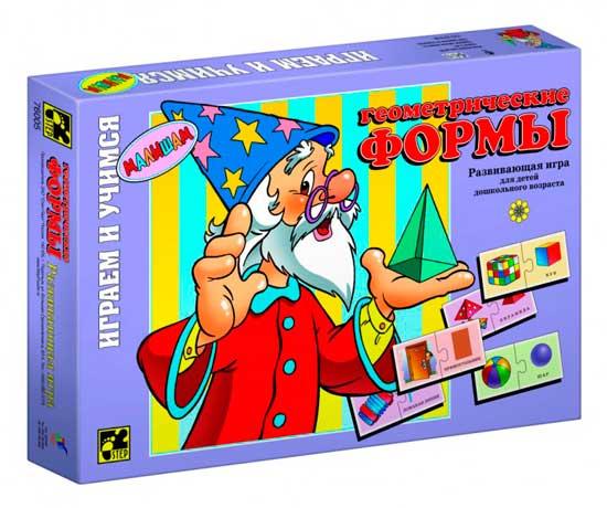 Игры для школьников Step Puzzle Настольная игра Геометрические формы серия Играя, учись