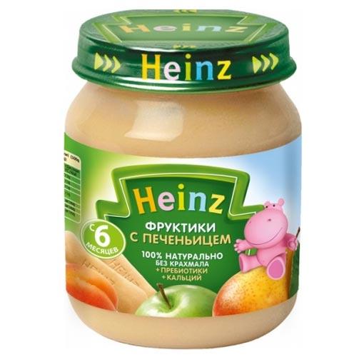 Heinz Пюре Фруктики с печеньицем с пребиотиками с 6 мес., 120 г