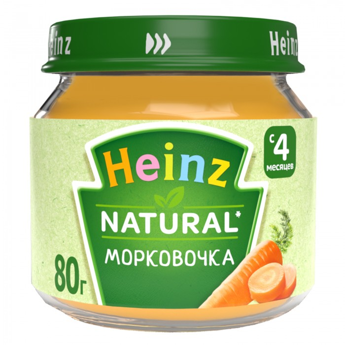 Пюре Heinz Пюре Морковочка с 5 мес., 80 г