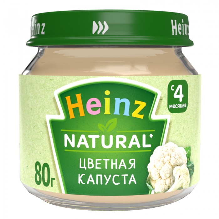 Heinz Пюре Цветная капуста с 4 мес., 80 г