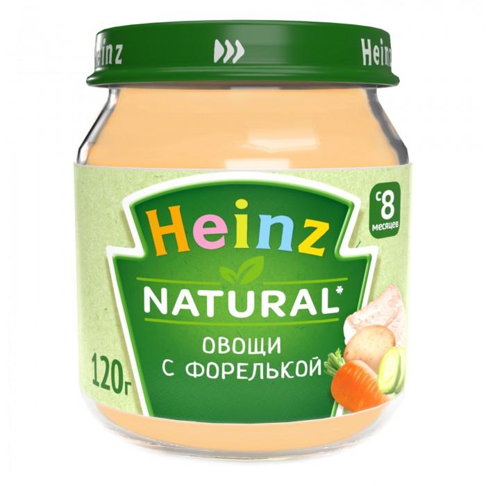Heinz Пюре Овощи с форелькой с 8 мес., 120 гПюре Овощи с форелькой с 8 мес., 120 гHeinz Пюре Овощи с форелькой 8 мес., 120 г  Форель богата ценными жирными кислотами, которые оказывают благотворное влияние на сердечно-сосудистую систему и препятствуют отложению холестериновых образований на стенках кровеносных сосудов.   Мясо форели содержит много жирорастворимых витаминов групп A, D, E, а также семнадцать аминокислот, витамин В12, рибофлавин, цинк, селен, магний, фосфор и другие витамины, макро- и микроэлементы.  В состав пюре входят овощи: морковь (признанный лидер среди овощей по содержанию провитамина А), картофель (важный ресурс витаминов группы В, РР, К, Е, фолиевой кислоты), кабачок (источник калия, натрия, витаминов С, В1, В2) и известный своими полезными свойствами лук.  Продукт рекомендован для детей старше 8 месяцев. Пюре вводится в рацион ребенка постепенно, начиная с 1/2 чайной ложки, увеличивая за 5-7 дней до 60-100 г в день.   Состав: морковь картофель кабачки филе форели мука кукурузная мука рисовая зеленый горошек лук масло подсолнечное лимонный сок соль вода. Без добавления консервантов, красителей и искусственных добавок. Не содержит соли, глютена.  Не содержит ГМО.<br>