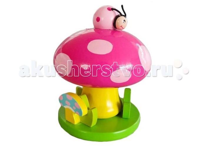 Деревянная игрушка Mapacha Волшебная коробочка ГрибокВолшебная коробочка ГрибокДеревянная игрушка Волшебная музыкальная коробочка Грибок от производителя деревянных игрушек Mapacha.  Игрушка сделана по принципу музыкальной шкатулки.  Если повернуть шляпку гриба против часовой стрелки, то зазвучит приятная мелодия. Игрушка развивают слуховое восприятие и воображение. Игрушка развивают мелкую моторику рук, слуховое и зрительное восприятие.  Материал: дерево<br>