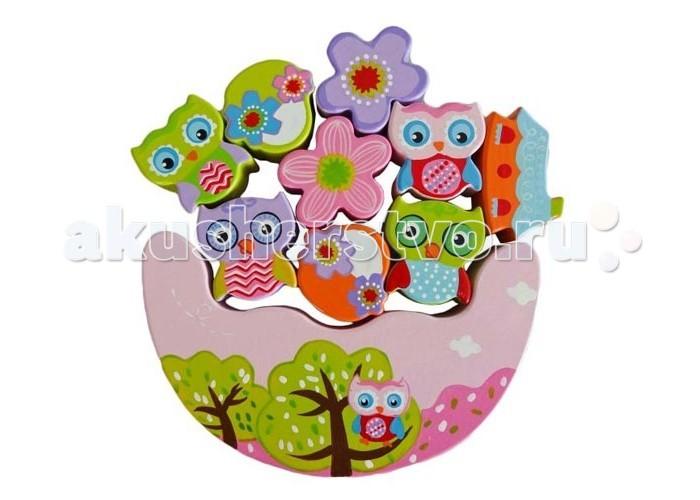 Деревянная игрушка Mapacha Игра-баланс СовятаИгра-баланс СовятаДеревянная игрушка Игра-баланс Совята от производителя деревянных игрушек Mapacha. Удивительная развивающая игрушка развивают мелкую моторику и ловкость рук, зрительное восприятие. Попробуйте вместе с малышом сохранить баланс и удержать все элементы сразу.  Материал: дерево<br>