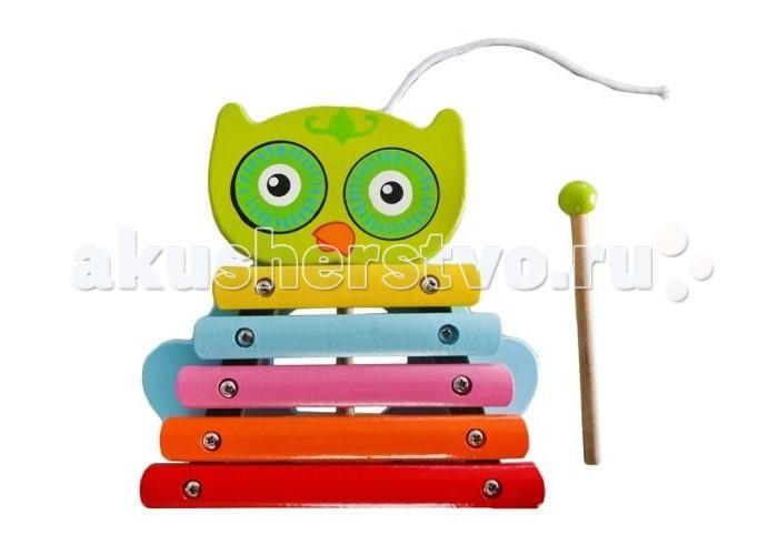 Каталка-игрушка Mapacha Ксилофон-каталка СовенокКсилофон-каталка СовенокДеревянная игрушка Mapacha Ксилофон Совенок - это музыкальный инструмент, состоящий из каркаса, к которому прикреплены клавиши. Ксилофон   Совенок - это еще и каталка, ведь у игрушки есть колесики и веревочка. Играть на ксилофоне можно деревянной палочкой с круглым наконечником. Игрушка развивает слух, звуковое и цветовое восприятие и мелкую моторику рук.  Размеры игрушки: 13 х 14 х 6 см<br>