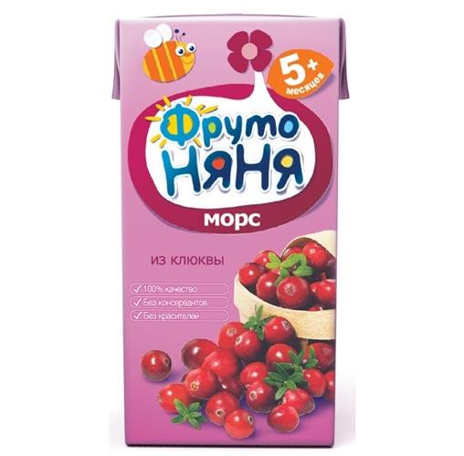 ФрутоНяня Морс из клюквы с 5 мес., 200 мл (тетра пак)