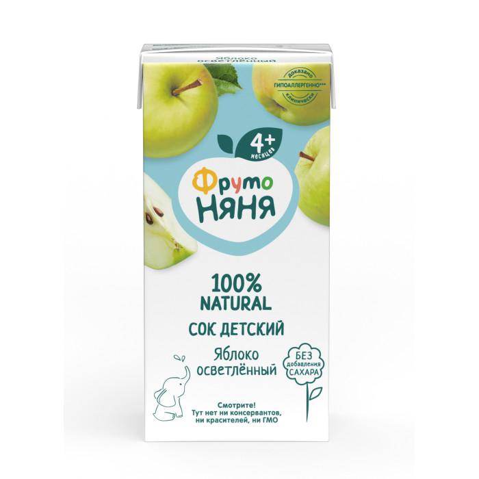 ФрутоНяня Сок из яблок осветленный с 3 мес., 200 мл (тетра пак)