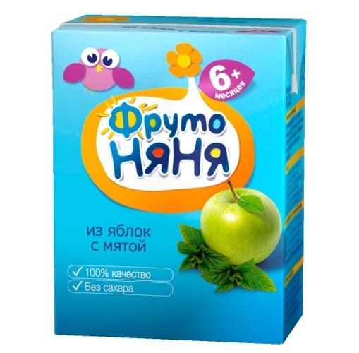ФрутоНяня Напиток из яблок с мятой с 6 мес., 200 мл (тетра пак)