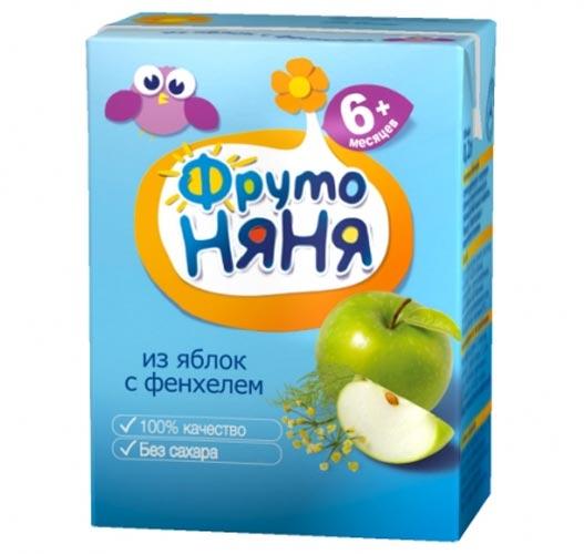 ФрутоНяня Напиток из яблок с фенхелем с 6 мес., 200 мл (тетра пак)
