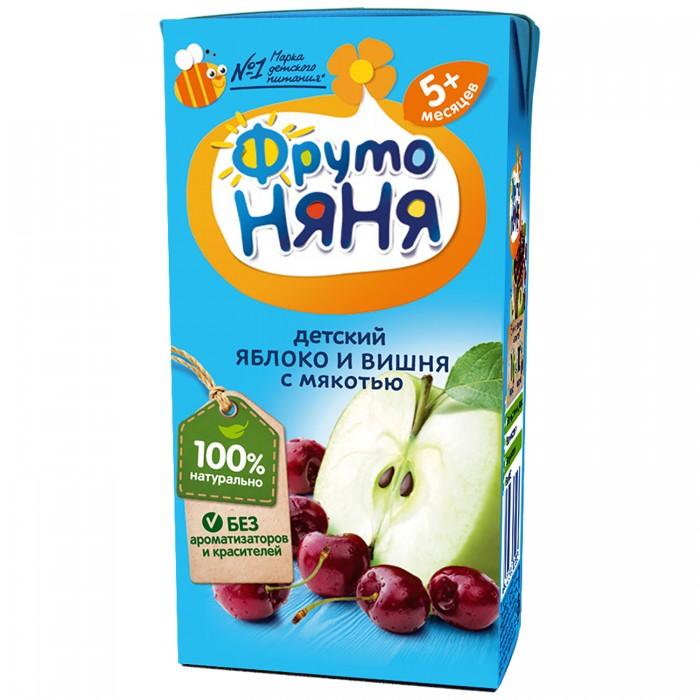 Соки и напитки ФрутоНяня Нектар из яблок и вишни с мякотью с 5 мес., 200 мл (тетра пак)