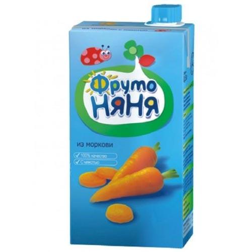 Соки и напитки ФрутоНяня Нектар из моркови с мякотью с 3 лет, 500 мл (тетра пак)
