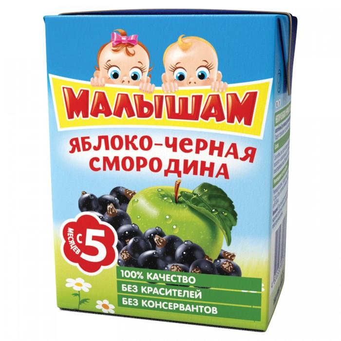 ФрутоНяня Малышам Сок Яблоко и черная смородина осветленный с 5 мес., 200 мл