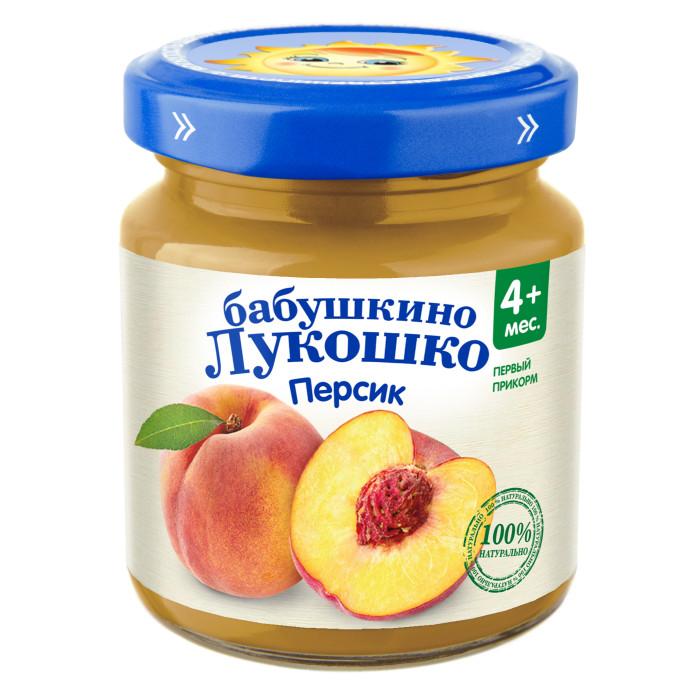Бабушкино лукошко Пюре Персик с 4 мес., 100 г