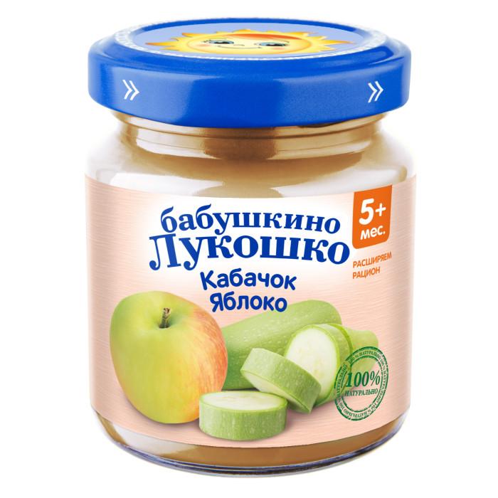 Бабушкино лукошко Пюре Кабачок, яблоко с 5 мес., 100 г
