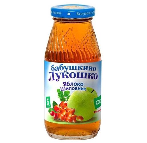 Бабушкино лукошко Сок Яблоко, шиповник осветленный с 5 мес., 200 мл