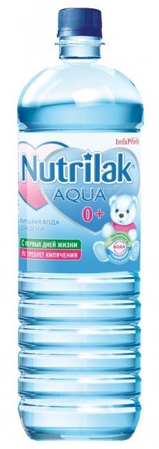 Nutrilak AQUA Вода детская питьевая с 0 мес., 1.5 л