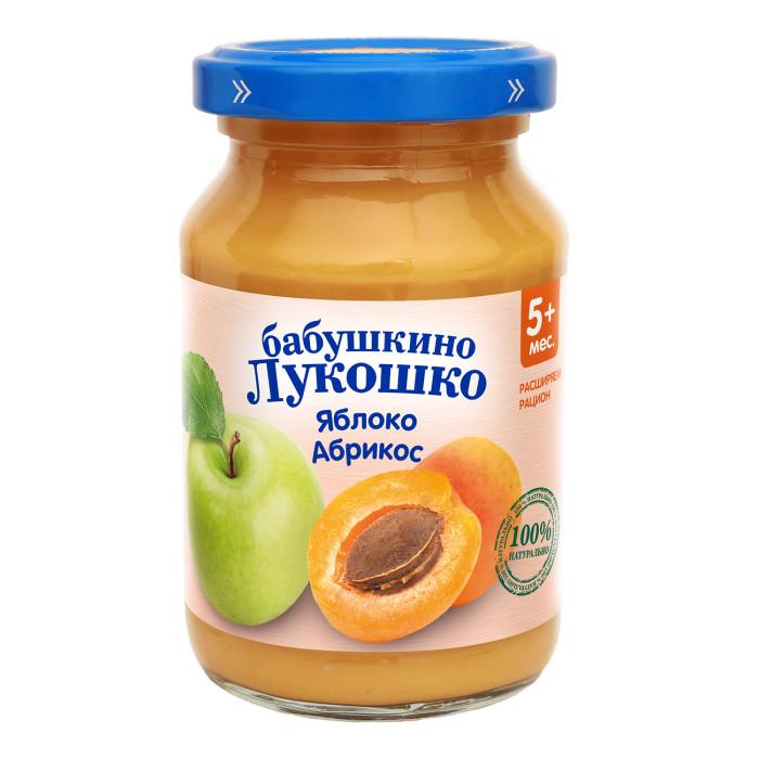 Бабушкино лукошко Пюре Яблоко, абрикос с 5 мес., 200 г