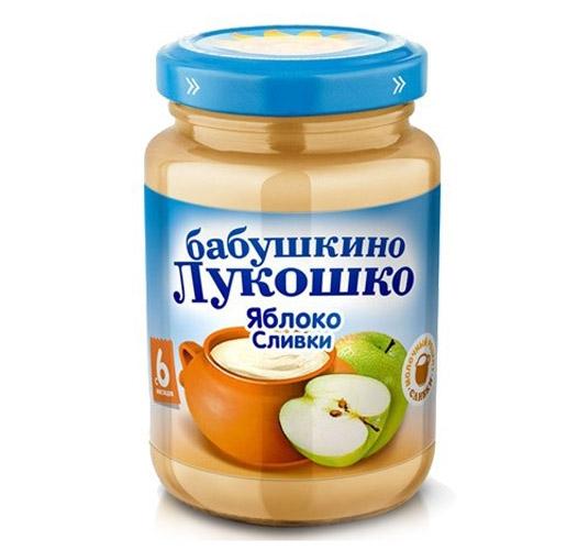 Пюре Бабушкино лукошко Пюре Яблоко, сливки с 6 мес., 200 г