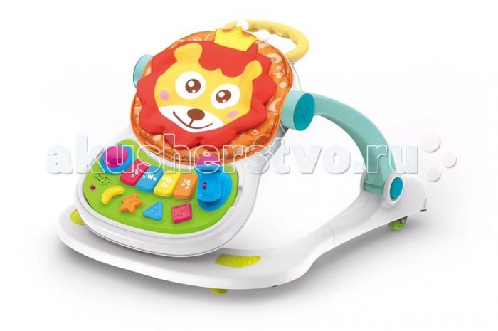 Ходунки Everflo Царь зверейЦарь зверейEverflo Ходунки Царь зверей– детские ходунки, которые обеспечат малышу увлекательный процесс обучения ходьбе.   Ходунки трансформируется в: Стульчик для кормления Ходунок Игровой центр Каталку  Маневренные колеса легко едут без заносов в ту сторону, куда направляется ребенок. Когда маленький непоседа устанет изучать окружающий мир, он может удобно устроиться в кресле и начать играть с развивающими игрушками, расположенными на интерактивной панели. По мере роста малыша высота детских ходунков увеличивается и фиксируется. Подходят детям от 4 месяцев.  Особенности: Четыре колеса Музыкальные эффекты  Световые эффекты Имеют удобную ручку для толкания Съёмный музыкальный комплекс Регулировка по высоте сиденья Материал: пластик, ткань. Габариты в сложенном виде: 56 х 70 х 45 см<br>