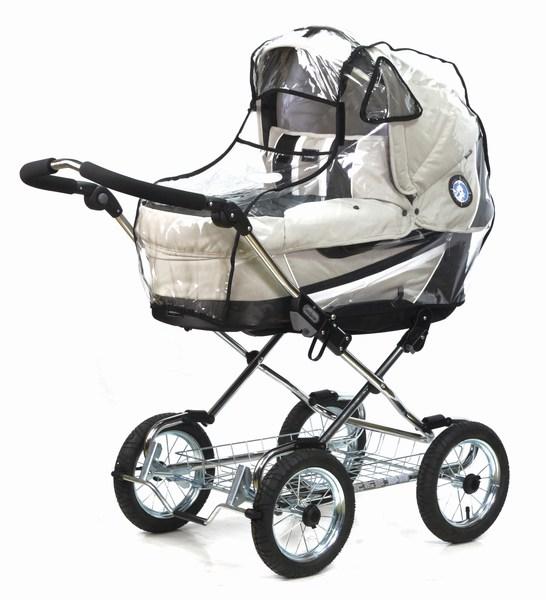 Дождевик Esspero NewbornNewbornДождевик для коляски люльки Esspero Newborn (-15°С) специальная кабина для коляски люльки подойдет на любое время года. В ненастную погоду, будь то снег, дождь, ветер или морось, Ваш малыш будет спокойно спать в коляске, ощущая свежесть воздуха и комфорт.   Плотный силикон дождевика полностью прозрачен, не скроет красоты Вашей коляски и сохранит ее в сухости. В зимний период Вы также сможете использовать эту кабину, потому что она не дубеет и не трескается. Как известно, силикон обладает мягкими свойствами ткани и прочностью железа, поэтому ему не страшен ни мороз, ни ветер. А специальные фиксирующие резинки по низу кабины удерживают ее на люльке.  Система вентиляции дождевика оптимальна. Смотровое окошко в сочетании с жабрами на сеточке сохраняют температурный фон в коляске без резких перепадов. Это то, что нужно малютке в люльке - комфорт, тепло и свежесть.  Дождевик для коляски люльки Esspero Newborn (-15°С): плотный силикон выдерживает зимние температуры подходит для любых колясок люлек классического типа имеет регулируемую систему вентиляции<br>