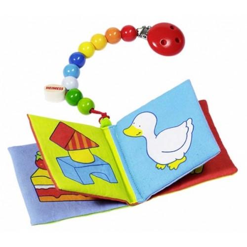 Книжки-игрушки Heimess Книжка первая с клипсой