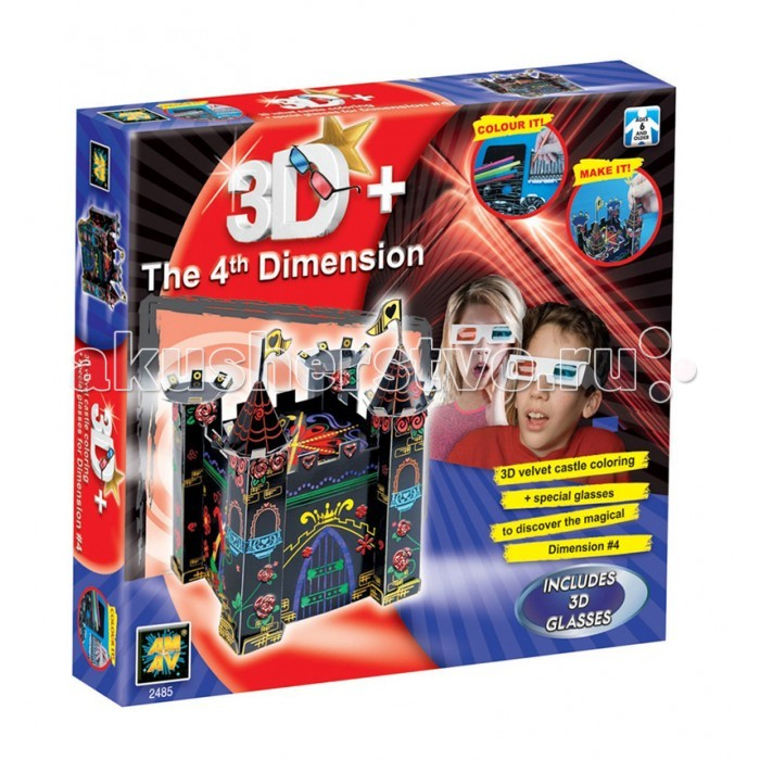 AMAV (Diamant) Набор 3D замокНабор 3D замокНабор 3D замок AMAV (Diamant) 2485.  Тем детям, которые любят мастерить и создавать оригинальные подарки, обязательно понравится набор Замок 3D.   Проявив всю свою смекалку, ребенок должен собрать свой сказочный замок как указано в инструкции.   В наборе:  - 3D очки - бархатная бумага - маркеры - клей - клей с блестками - стразы - инструкция.<br>