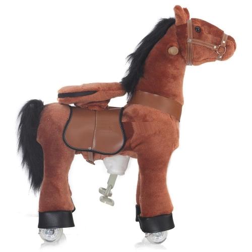 Каталка Ponycycle Рыжая лошадка средняя 4171