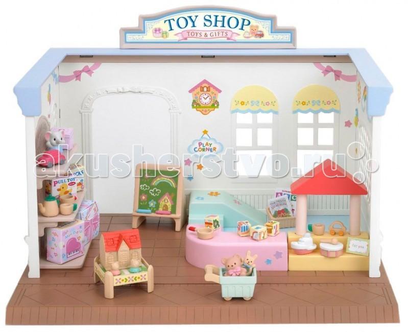 Sylvanian Families Магазин игрушекМагазин игрушекВсе дети страны Сильвания спешат на открытие нового магазина Sylvanian Families – магазина игрушек. В нем продается так много интересного! Здесь каждый сможет найти игрушку по своему вкусу. Набор Sylvanian Families «Магазин игрушек» понравится не только малышам, но и взрослым.  Теперь все лесные жители страны Сильвания знают, в каком магазине веселее всего – конечно, в магазине игрушек!  В набор Sylvanian Families «Магазин игрушек» входят: симпатичный магазин с полками и стойками для товаров, различные игрушки, прилавки, тележка для покупок, касса.  Внимание: зверюшки в набор не входят.  Сказочный мир игровых наборов Sylvanian Families разнообразен - это всевозможные зверюшки, у каждого из которых есть собственный дом, семья, работа. Состав семей в игровых наборах Sylvanian Families не ограничивается стандартным «папа, мама, ребенок», здесь есть даже бабушки и дедушки. Герои игровых наборов Sylvanian Families разнообразны: кролики, еноты, медведи, мыши, ежи, белки и многие другие. Однако разнообразием героев мир игрушек Sylvanian Families не ограничивается. Дома, предметы мебели, игрушечная еда и многие другие аксессуары представлены в ассортименте игрушек Sylvanian Families.<br>