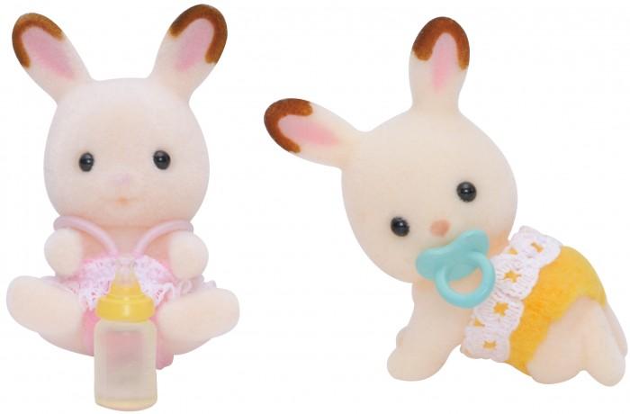 Sylvanian Families Игровой набор Шоколадные кролики-двойняшки