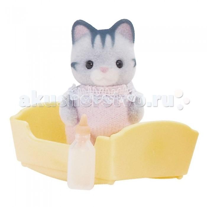 Sylvanian Families Игровой набор Малыш серый котенок