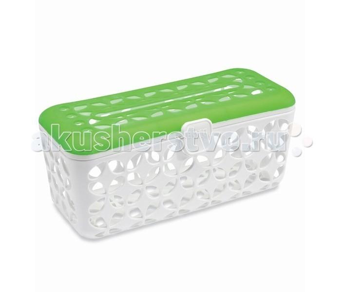BornFree Корзина для мытья аксессуаров в посудомоечной машинеКорзина для мытья аксессуаров в посудомоечной машинеСпециальный ячеистый контейнер поможет Вам вымыть всю детскую посуду и не потерять мелкие части от нее!   Особенности: Крышка из мягкого силикона с удобной прорезью для удобства использования.  Идеально подходит для бутылочек, сосок, поильников, соломинок от поильников, прорезывателей для зубов и прочих аксессуаров  Благодаря большому количеству отверстий корзина быстро высыхает, не образуется плесени  В этой корзине безопасно мыть в посудомоечной машине даже самые мелкие аксессуары  Не содержит Бисфенол-А<br>