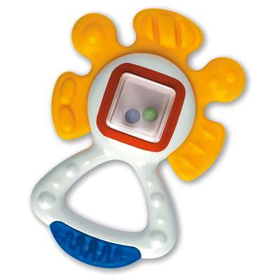 Погремушка Tolo Toys СолнышкоСолнышкоЛегкая погремушка, которую удобно держать в ручке, с мягким гремящим звуком.  Гибкие поверхности идеально подходят для прорезывания зубов.   Эта игрушка развивает навыки осязания и захвата, распознавания текстуры и цветов, сноровки, а также помогает прорезыванию зубов.  Игрушки Tolo отличаются высоким качеством изготовления и повышенной прочностью.<br>