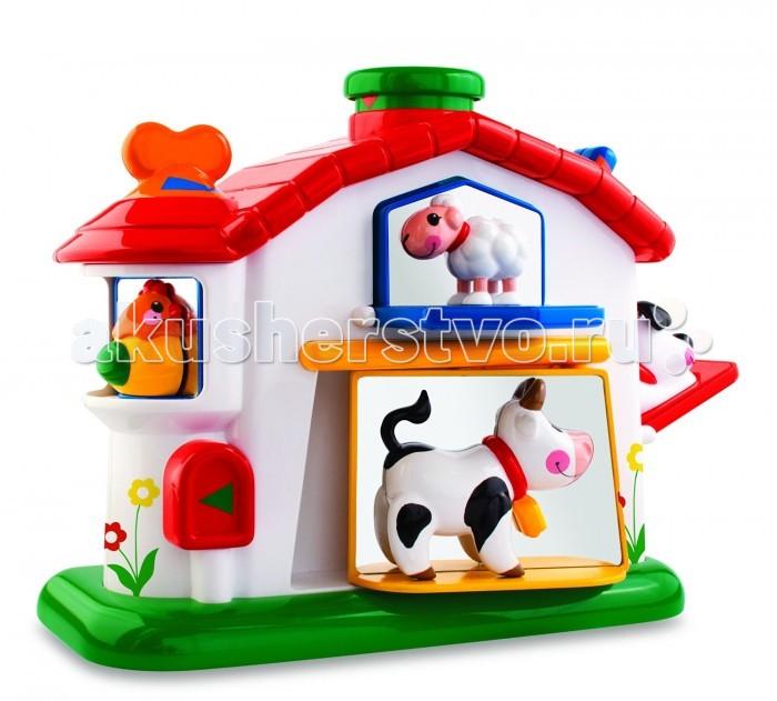 Развивающая игрушка Tolo Toys Механическая фермаМеханическая фермаВся ферма в одном домике: четыре дружелюбные зверюшки встретят малыша.   Домик-ферма загадает малышу множество задачек с помощью своих аксессуаров: барабан с погремушкой, кнопка-пищалка, звезда со щелчком, счеты, отражающие поверхности.   Эта игрушка развивает навыки координации, определения причинно-следственных связей, запоминания фигур, осязания и захвата, распознавания звуков и цветов, решения задач, а также сноровку, память и слух.  Игрушки Tolo отличаются высоким качеством изготовления и повышенной прочностью.<br>