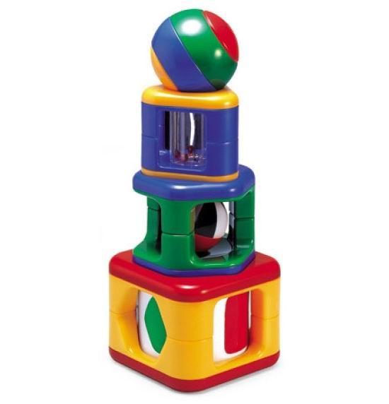Развивающая игрушка Tolo Toys Пирамидка с подвижными элементамиПирамидка с подвижными элементамиПирамидка состоит из четырех частей: вращающийся и щелкающий барабан, погремушка, пищалка, зеркала.   С каждой деталью можно играть отдельно.   Развивает сноровку, координацию, захват, логическое мышление, распознавание фигур, цветов, звуков.   Игрушки Tolo отличаются высоким качеством изготовления и повышенной прочностью.<br>