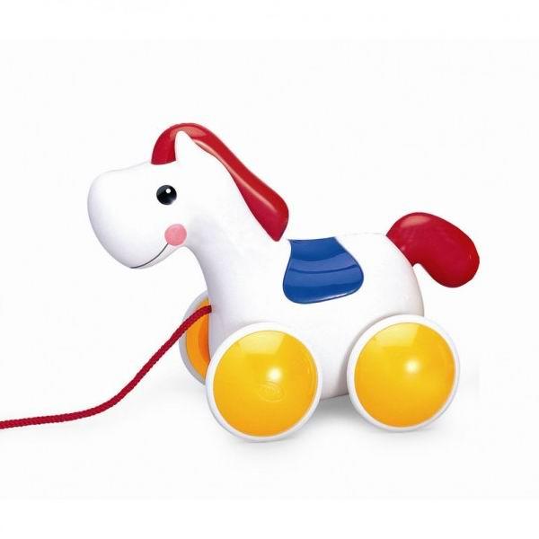 Каталка-игрушка Tolo Toys Пони на веревочкеПони на веревочкеРазноцветная игрушка, с дружелюбной мордашкой пони.   Можно возить на веревочке и катать ручками.  Голова качается, когда пони тянут за веревочку.  Прислушайся к мягкому цоканью пони.  Игрушки Tolo отличаются высоким качеством изготовления и повышенной прочностью.<br>