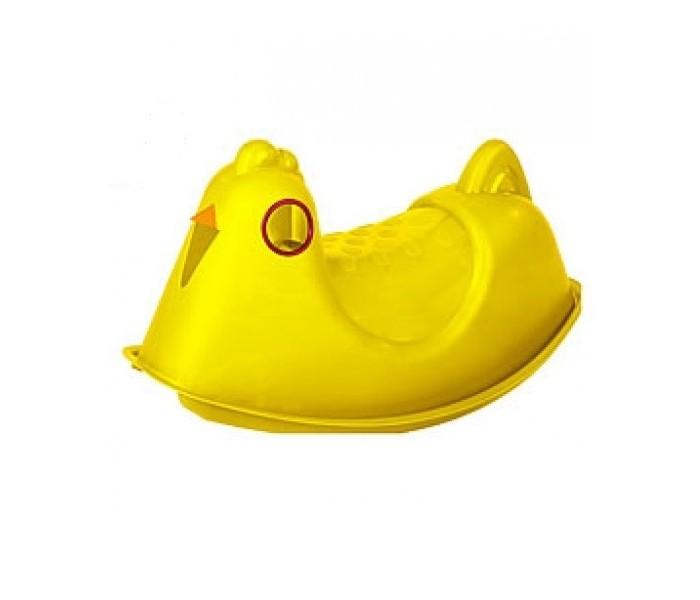 Качалка Paradiso КурицаКурицаЗамечательный подарок вашим малышам — качалка в форме курицы.   У неё удобное сиденье без спинки, яркая расцветка и интегрированные ручки за которые можно держатся.   В процессе катания ребенок развивают вестибулярный аппарат, координацию движений, ловкость, стимулируют моторные навыки. Помимо всего прочего качалка развивает воображение!   Установит эту чудесную курицу можно как дома, так и во дворе на улице. Сделана игрушка из яркого и прочного пластика. Конструкция полностью исключает падение вашего «сокровища» при качании. Эта желтая курочка будет любимой игрушкой-качалкой для Вашего крохи!   Максимальная нагрузка 30 кг.   Размер: (ВхДхШ) 40х78х40 см.  Вес: 2 кг.<br>