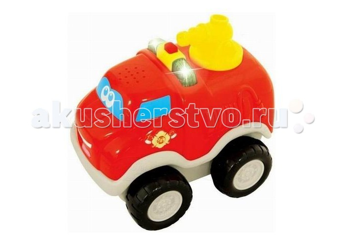 Kiddieland Пожарный автомобильПожарный автомобильПожарный автомобиль Kiddieland 050070 - это яркая развивающая игрушка для малышей, которая изготовлена из высококачественных материалов и выполнена в ярких цветах.   Модель способствует формированию представления о цветах и звуках, а также развивает моторику и сенсорику детей.   У машинки инерционный механизм, который стимулирует ее двигательную активность. Нужно откатить игрушку назад, отпустить, и она весело покатится вперед в сопровождении реалистичного звука мотора и сигнала.  Работает от 3-х батареек стандарта LR44 1,5V (таблетка) Размер упаковки: Ш*Г*В 14,5 см*10,0 см*15,0 см<br>