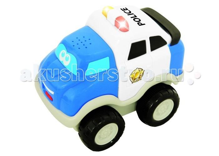 Kiddieland Полицейский автомобильПолицейский автомобильПолицейский автомобиль Kiddieland 050088 - это яркая развивающая игрушка для малышей, которая изготовлена из высококачественных материалов и выполнена в ярких цветах.   Модель способствует формированию представления о цветах и звуках, а также развивает моторику и сенсорику детей.   У машинки инерционный механизм, который стимулирует ее двигательную активность. Нужно откатить игрушку назад, отпустить, и она весело покатится вперед в сопровождении реалистичного звука мотора и сигнала.  Работает от 3-х батареек стандарта LR44 1,5V (таблетка) Размер упаковки: Ш*Г*В 14,5 см*10,0 см*15,0 см<br>