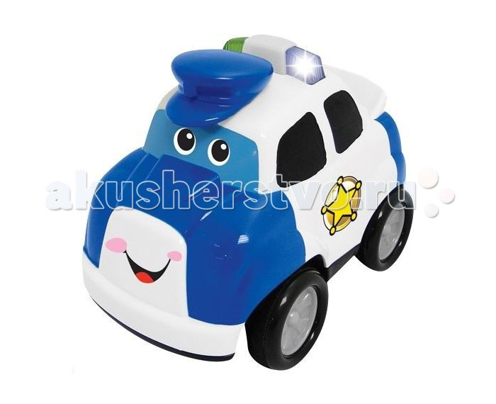 Kiddieland Полицейский автомобиль р/уПолицейский автомобиль р/уРазвивающая игрушка Полицейский автомобиль Kiddieland 042994 представляет собой полицейскую машинку, которая способна двигаться вперед, назад, поворачивать влево и вправо.   Для управления используйте пульт.  Машинка издаёт звук двигателя, сирены и наигрывает мелодию.  Размер товара: 17,5 х 13 х 14,8 см<br>