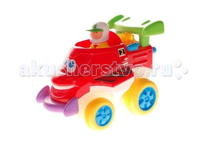 Kiddieland Забавный автомобильчикЗабавный автомобильчикЗабавный автомобильчик Kiddieland 041996 - это гоночный автомобиль интересного вида и с широкой улыбкой на лицевой части.   На корпусе есть спойлер. В кабине автомобильчика сидит вынимающийся гонщик в шлеме.  Забавный автомобильчик Kiddieland на колесах, который развлечет малыша мигающими огоньками, приятной музыкой и забавными звуками.  При нажатии на руль и фигурку водителя машина едет, издавая реалистичный звук двигателя.<br>