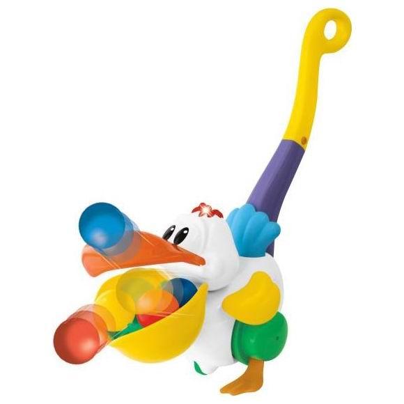 Каталка-игрушка Kiddieland с ручкой Пеликан-затейник