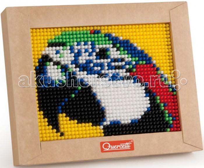 Quercetti Пиксельная мозаика Попугай (1200 элементов)Пиксельная мозаика Попугай (1200 элементов)Quercetti Пиксельная мозаика Попугай 1200 элементов - развивает творческие способности у детей, внимание и усидчивость.  С пиксельной мозаикой Ваши дети могут создавать настоящие картины.  Просто положите цветную схему на рабочее поле и начинайте втыкать гвоздики соответствующего цвета. После заполнения всего поля, картинку можно вставить в рамочку и повесить на стену, как настоящую картину.  В наборе: 1200 гвоздиков 6-ти цветов  1 рамка для готовой работы 1 схема Инструкции   Все элементы изготовлены из безопасного пластика    Элементы можно мыть    Конструктор упакован в подарочную коробку<br>