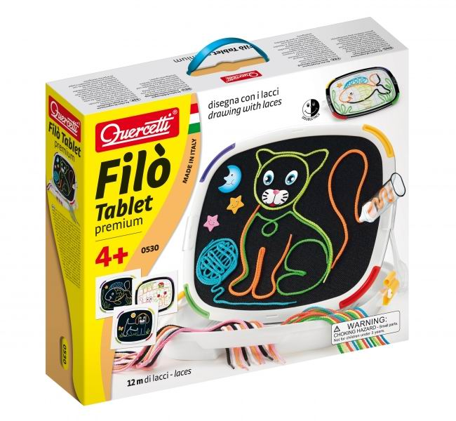 Quercetti Доска для рисования с шнурками Фило с кейсом